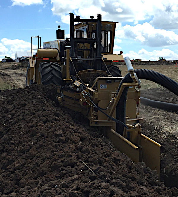 Installing Farm Tile Lines using Crop Quest Drainage Solutions