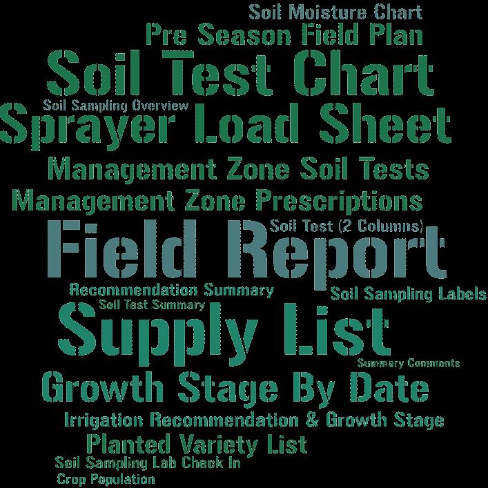 Farm Record Keeping List of Reports