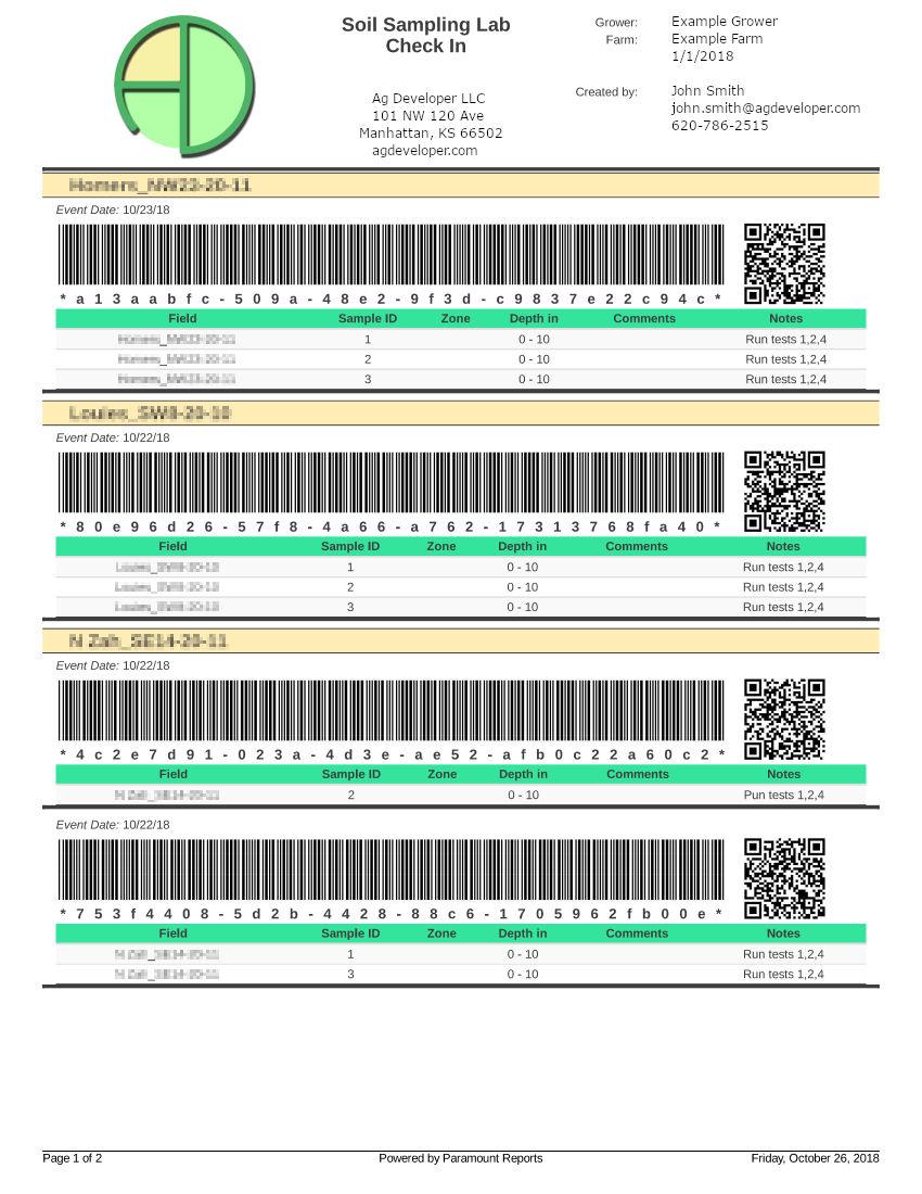 lab check in sheets ensure good data
