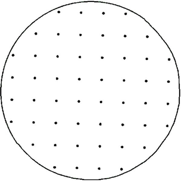 Grid sampling involves taking samples at regular intervals across the landscape of a field